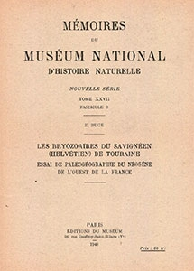 Les Bryozoaires du Savignéen (Helvétien) de Touraine