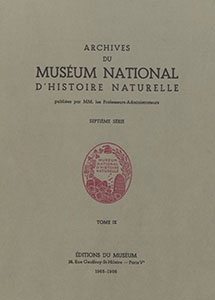Archives du Muséum national d'Histoire naturelle, 7ème série