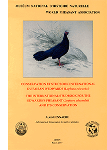 Conservation et Studbook international du Faisan d'Edwards (<i>Lophura edwardsi</i>)