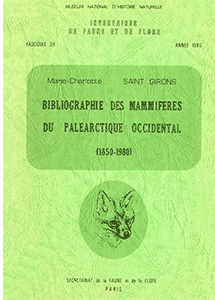 Bibliographie des Mammifères du Paléarctique Occidental (1850-1980)