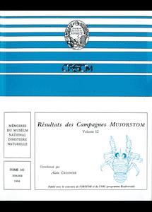 Résultats des Campagnes MUSORSTOM volume 12